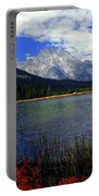 Mount Moran In The Fall Portable Battery Charger