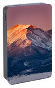 Mount Princeton Moonset At Sunrise Portable Battery Charger