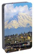 Mount Rainer Over Port Of Tacoma Portable Battery Charger
