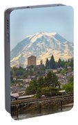 Mount Rainier At Tacoma Waterfront Portable Battery Charger