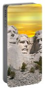 Mount Rushmore 11 Digital Art Portable Battery Charger