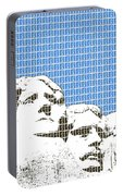 Mount Rushmore - Blue Portable Battery Charger