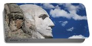 Mount Rushmore Profile Of George Washington Portable Battery Charger