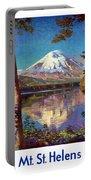 Mount Saint Helens Vintage Travel Poster Restored Portable Battery Charger