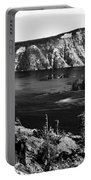 Mount Scott Behind Crater Lake B W Portable Battery Charger