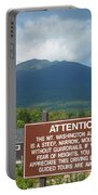 Mount Washington Nh Warning Sign Portable Battery Charger