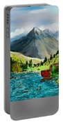 Mountaian Scene Portable Battery Charger