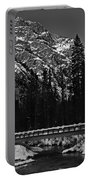 Mountain And Bridge Black And White Portable Battery Charger