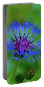 Mountain Cornflower Portable Battery Charger by Byron Varvarigos
