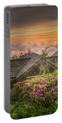 Mountain Flowers At Sunrise Portable Battery Charger