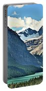Mountain Glacier And Lake  Portable Battery Charger