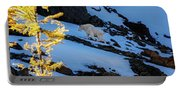 Mountain Goat And Larches Portable Battery Charger