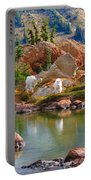 Mountain Goats In Early Fall Portable Battery Charger