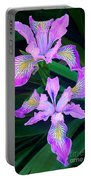 Mountain Iris In Flower California Portable Battery Charger