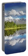 Mountain Lake With Reflection Portable Battery Charger