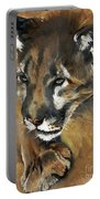 Mountain Lion - Guardian Of The North Portable Battery Charger by J W Baker