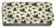 Mountain Lodge Cabin In The Forest - Home Decor Pine Cones Portable Battery Charger