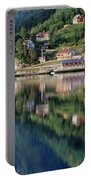 Mountain Reflected In Lake Portable Battery Charger