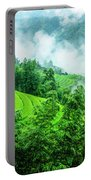 Mountain Scenery In Mist Portable Battery Charger