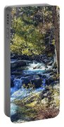 Mountain Stream In Fall Portable Battery Charger