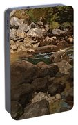 Mountain Stream With Boulders Portable Battery Charger