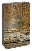 Mountain Stream With Tree Overhang #1 Portable Battery Charger
