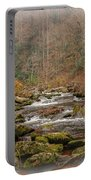 Mountain Stream With Vignette #2 Portable Battery Charger