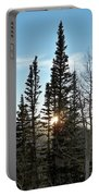 Mountain Sunset Portable Battery Charger by Michael Cuozzo