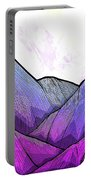 Mountain Texture Portable Battery Charger