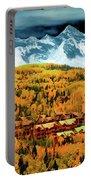 Mountain Village Autumn Portable Battery Charger