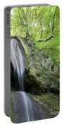 Mountain Waterfall Spring Nature Scene Portable Battery Charger