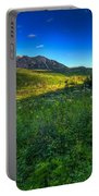 Mountain Wildflowers And Light Whispers Portable Battery Charger