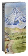 Mountains And Valley Portable Battery Charger