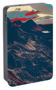 Mountains By Red Road Portable Battery Charger