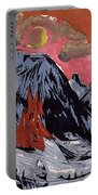 Mountains In Winter Portable Battery Charger by Ernst Ludwig Kirchner