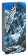 Mountains View Landscape Acrylic Painting Portable Battery Charger