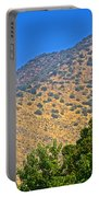 Mountainside From Wealthy Neighborhood Above Santiago-chile Portable Battery Charger