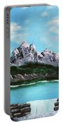 Mountian Waterfall Portable Battery Charger