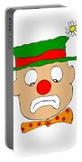 Mournful Clown Portable Battery Charger