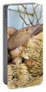 Mourning Dove And Chick Portable Battery Charger