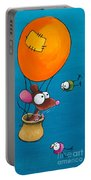 Mouse In His Hot Air Balloon Portable Battery Charger