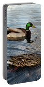 Mr And Mrs Duck On Parade Portable Battery Charger