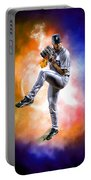 Mr. Justin Verlander Portable Battery Charger by Nicholas  Grunas