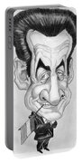 Mr Nicolas Sarkozi Caricatur Portrait Portable Battery Charger