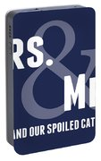 Mrs And Mrs And Cat- Blue Portable Battery Charger