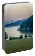 Mt Baker At Sunset Portable Battery Charger