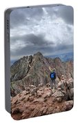 Mt Eolus And The Catwalk From North Eolus - Chicago Basin - Weminuche Wilderness - Colorado Portable Battery Charger