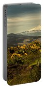 Mt. Hood And Wildflowers Portable Battery Charger