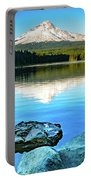 Mt. Hood In Trillium Lake Portable Battery Charger