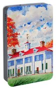 Mt. Vernon East Front In Fall Portable Battery Charger